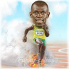 Cartoon: Usain Bolt (small) by funny-celebs tagged usain,bolt,sprinter,jamaica,100metres,world,record,athletics,olympic,games,diamond,league,gold,medal,running,fire,smoke