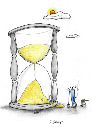 Cartoon: time evaluation (medium) by aytrshnby tagged time,evaluation