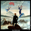 Cartoon: Herbstwind (small) by Anjo tagged herbst autumn kite surfer kitesurfer art caspar david friedrich