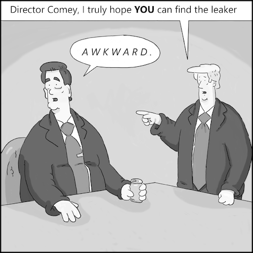 Cartoon: The Meeting (medium) by creative jones tagged comey,trump,meeting,leaks,comey,trump,meeting,leaks