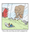 Cartoon: Salt and Prepper (small) by creative jones tagged climate,mini,ice,age,change,mammoth,prepper,bugout,shelter,underground