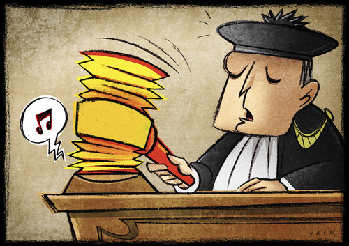 Cartoon: Giustice (medium) by Giacomo tagged justice,hammer,magistrate,note,giacomo,cardelli