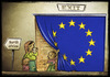 Cartoon: Exit (small) by Giacomo tagged europe,north,africa,libya,war,refugees,wall,tent,output,welcome,policy,giacomo,cardelli