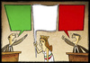 Cartoon: Italian Politic (small) by Giacomo tagged italy,policy,green,white,red,flag,nation,unit,patriotism,right,left,fascism,communism,giacomo,cardelli