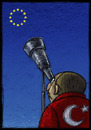 Cartoon: Turkey and Europe (small) by Giacomo tagged turkey,europe,eu,politic,hope,astronomy,stars,sky,giacomo,cardelli,jack,lombrio