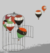 Cartoon: arab revolution (small) by No tagged tunisie,egypte,libye,iran,yemen,oman,jordanie,barhein