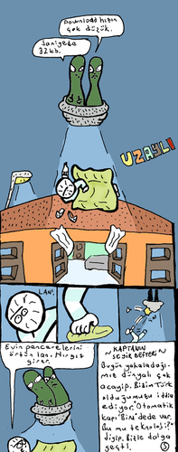 Cartoon: Uzayli (medium) by Musluk tagged alien,ufo,uzayli,samet,yavuz
