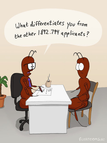 Cartoon: INTERVIEW (medium) by fcartoons tagged job,interview,ant,boss,chair,applicant,office,coffee,fcartoons,yucca,comic,question