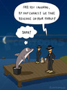 Cartoon: REVENGE (small) by fcartoons tagged revenge cement dolphin family harbor jetty landing mafia port stage bootssteg cartoon delfin delphin dunkel mond nacht rache sonnenbrille steg zement