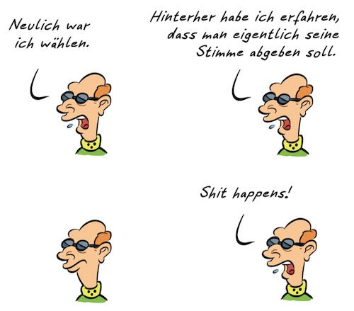 Cartoon: Kommentar Wahl (medium) by Rob tagged kommentar,commentary,election,wahl,eu,europa,stimme,lokal