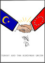 Cartoon: TURKS AND THE EUROPIAN UNION (small) by AHMEDSAMIRFARID tagged turkey,turks,union,europe,european,euro,egypt,ahmed,samir,farid,exihibition