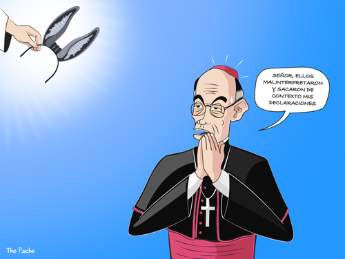 Cartoon: Cipriani el incomprendido. (medium) by PAICHE tagged cipriani,arzobispo,iglesia,catolica