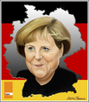 Cartoon: Angela Merkel (small) by Maria Hamrin tagged merkel,karikatyrer