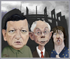 Cartoon: Barroso  Rompuy  Ashton. (small) by Maria Hamrin tagged eu,brussels,luxemburg,strasbourg,euro,farage,russia