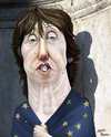 Cartoon: Catherine Ashton. (small) by Maria Hamrin tagged labour,eu,leader,soland,ferro,waldner,rompuy,barrosso,ukraine