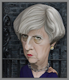 Cartoon: Prime Minister Theresa May. (small) by Maria Hamrin tagged caricature,british,pm,leader,chief,politican,chairwoman,conservative,tory,uk,cameron,corbyn,johnson,thatcher,eu,brexit,dup,mp