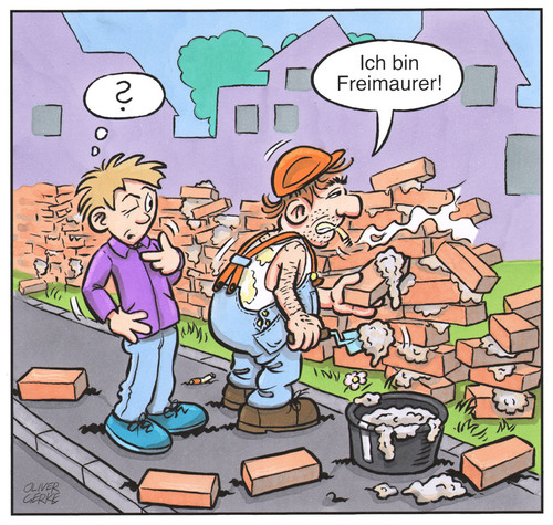 Cartoon: Freimaurer (medium) by Oliver Gerke tagged freimaurer,maurer