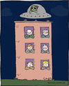 Cartoon: Aliens (small) by Hannes tagged aliens,außerirdische,fliegende,untertasse,ufo