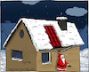 Cartoon: rutschig (small) by Hannes tagged xmas,christmas,santaclaus,weihnachten,weihnachtsmann,winter,snow,schnee