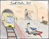 Cartoon: Sankt Martin 2011 (small) by Hannes tagged bettler,gewalt,helfer,mantel,martinsumzug,opfer,sankt,martin,ubahn