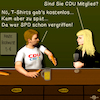 Cartoon: Bargespräche 9 (small) by PuzzleVisions tagged puzzlevisions merkel spd cdu csu germany schulz seehofer wahl election bargespräche bar talks