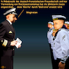 Cartoon: Marine - Makrone (small) by PuzzleVisions tagged puzzlevisions,bundeswehr,armed,forces,germany,von,der,leyen,traditionen,traditions,marine,navy,macron,makrone
