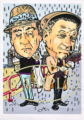 Cartoon: Sid and Tony (medium) by Marty Street tagged sid,james,tony,hancock,carry,on,films