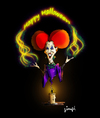Cartoon: Happy Halloween (small) by gimpl tagged halloween,witch,bette,midler
