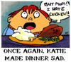 Cartoon: Tiny Comics 2 (small) by nartleby tagged atc,dinner,sad,chicken,food