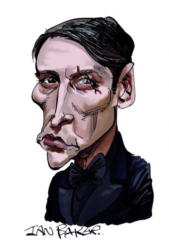 Cartoon: Le Chiffre (medium) by Ian Baker tagged le,chiffre,mads,james,bond,royale,oo7,spy,caricature,villain