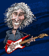 Cartoon: Albert Lee (small) by Ian Baker tagged albert lee guitar rock country music caricature ian baker cartoon hair boy hogans heroes eric clapton road runner hiding setting me up picking fast playing