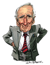 Cartoon: Desmond Llewelyn (small) by Ian Baker tagged james,bond,desmond,llewelyn,007,spies,gadgets,quatermaster,caricature