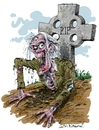 Cartoon: Kate Beaumonts Zombie (small) by Ian Baker tagged zombie horror living dead scary halloween grave skeleton
