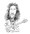 Cartoon: Peter Green (small) by Ian Baker tagged peter,green,fleetwood,mac,music,guitar,sixties,blues,guitarist,ian,baker,caricature,cartoon,famous,john,mayall