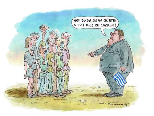 Cartoon: Sparer Venizelos (medium) by marian kamensky tagged venizelos,ecangelos,griechenland,schuldenkrise,rettungsschirm,finanzminister,eurokrise,sparpacket