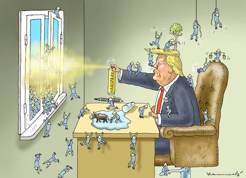 Cartoon: TRUMPS HANDELSKRIEG GEGEN CHINA (medium) by marian kamensky tagged obama,trump,präsidentenwahlen,usa,baba,vanga,republikaner,inauguration,demokraten,wikileaks,faschismus,trumps,handelskrieg,china,strafzölle,obama,trump,präsidentenwahlen,usa,baba,vanga,republikaner,inauguration,demokraten,wikileaks,faschismus,trumps,handelskrieg,china,strafzölle