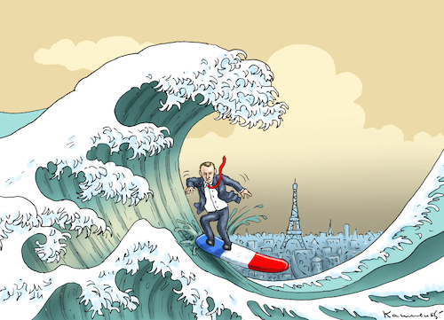 Cartoon: TSUNAMI MACRON (medium) by marian kamensky tagged putinversteher,assange,emmanuel,macron,le,pen,präsidentenwahl,in,frankreich,putinversteher,assange,emmanuel,macron,le,pen,präsidentenwahl,in,frankreich