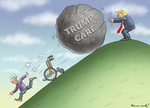 Cartoon: Wunderheiler Trump (medium) by marian kamensky tagged obama,trump,präsidentenwahlen,usa,baba,vanga,republikaner,inauguration,demokraten,care,wikileaks,faschismus,obama,trump,präsidentenwahlen,usa,baba,vanga,republikaner,inauguration,demokraten,care,wikileaks,faschismus