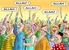 Cartoon: ALAAF (small) by marian kamensky tagged rosenmontag,köln,karneval,jecken,is,terroristen