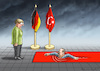 Cartoon: ERDOGAN KOMMT ANGESCHWOMMEN (small) by marian kamensky tagged trump,versus,erdogan,lira,türkei,sanktionen,erdogans,iphone,boykott
