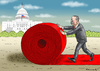 Cartoon: ERDOWAHN IN AMERIKA (small) by marian kamensky tagged erdowahn,in,amerika