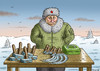 Cartoon: Flohmarktputin (small) by marian kamensky tagged moodys,rating,putin,ukraine,junk,ramsch,russland