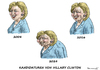 Cartoon: KANDIDATIN HILLARY CLINTON (small) by marian kamensky tagged kandidatin,hillary,clinton