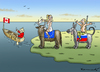 Cartoon: MERCI WALLONIE (small) by marian kamensky tagged ttip,leak,ceta,greenpeace,wallonie,freihandelsabkommen
