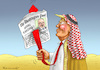 Cartoon: NEW LAWRENCE OF ARABIA (small) by marian kamensky tagged obama,trump,präsidentenwahlen,usa,baba,vanga,republikaner,inauguration,demokraten,wikileaks,faschismus,jamal,khashoggi