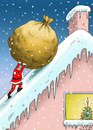 Cartoon: Santa Sisyphus (small) by marian kamensky tagged humor