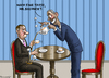 Cartoon: Tea time (small) by marian kamensky tagged john,boehner,tea,party,time,republicans,obama,usa,pleite,sieger