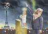 Cartoon: THE HOLY SHIT IN FRANCE (small) by marian kamensky tagged präsidenten,wahlen,in,frankreich,stichwahl,terroranschlag,champs,elysees