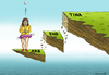 Cartoon: Tina in Argentina (small) by marian kamensky tagged argentiniens,pleite,cristina,kirchner,hedge,fonds,finanzkrise