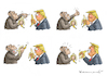 Cartoon: TRUMP LERNT BANANEN ESSEN (small) by marian kamensky tagged obama,trump,präsidentenwahlen,usa,baba,vanga,republikaner,inauguration,demokraten,wikileaks,faschismus,jamal,khashoggi
